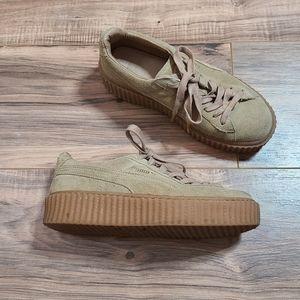 FENTY Puma Tan Platform Creeper Sneaker